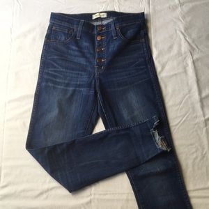 """Madewell 1"""" HR Button Front Skinny Jeans"""
